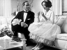 Audrey Hepburn and Mel Ferrer in Los Angeles, CA, 1957.