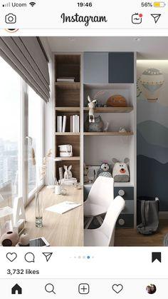 Bedroom Closet Design, Kids Bedroom Designs, Ikea Bedroom, Small Room Bedroom, Kids Room Design, Bedroom Decor, Small Home Offices, Home Office Space, Home Office Design