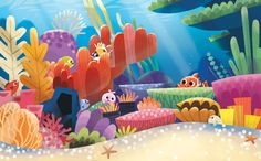Here's nemo book I illustrated for disney publishing. here are some of the art work in the book. you can find the bo...