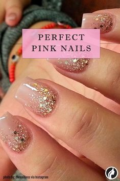 See the most charming nail designs in pink that are appropriate for almost any occasion. Beautiful Nail Designs, Cool Nail Designs, Latest Nail Art, Nailart, Nail Photos, Great Nails, Halloween Nail Designs, Nail Decorations, Wedding Nails