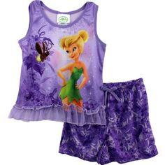 Disney Tinkerbelle Fairy Purple Microfleece Flannel Pajama Sleepwear Set 2T