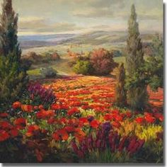 Roberto Lombardi 'Fields of Bloom' Canvas Art | Overstock.com Shopping - Top Rated Canvas