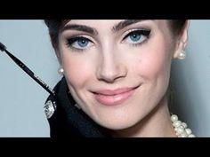 Audrey Hepburn Makeup Tutorial - YouTube