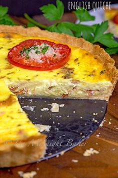"Hearty stick-to-the-ribs breakfast quiche based on a ""full English."" Easy and no-fuss."
