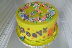 Hippy; love; peace inspired gluten free chocolate cake