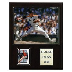 MLB 12 x 15 in. Nolan Ryan Texas Rangers Player Plaque - 1215RYANTEX