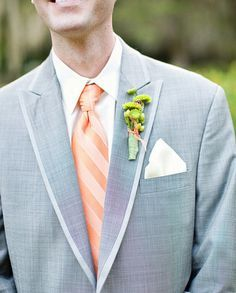 gray tuxedos with peach vests - Google Search