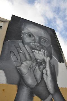 Street Art, Arte Urbana, Graffiti, O Bairro i o Mundo, Quinta do Mocho, Sacavém, Loures, Vespa.