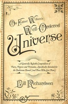 P22 Kilkenny font on Old Father William's Well-Ordered Universe book cover