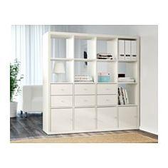 IKEA - KALLAX, Open kast, wit, , Dit meubel is van alle kanten even mooi en kan dus prima worden gebruikt als scheidingswand.