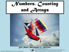 Kites and Numbers 1-10, Counting and Shapes  from TiePlay Educational Resources LLC on TeachersNotebook.com -  (27 pages)  - Eagles, butterflies, airplanes and other kites... In Kites: Numbers, Counting and Shapes, students count amazing photographed kites in arrays.