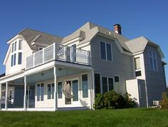 shingle style architecture | Shingle Style Oceanfront Home with Hips