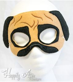 2b2ed1337fb Pug Mask ITH Embroidery Design Diy Eye Mask