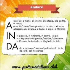 Le preposizioni rette dal verbo ANDARE
