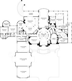 double staircase foyer house plans Google Search Interior Design