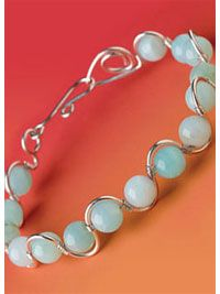 Wire Frame Peruvian Opal Bracelet - Interweave