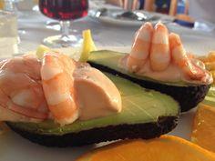 Prawn & avocado - Beach Bar, Marbella