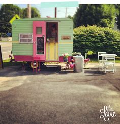 SO minty cupcake trailer
