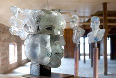 Glassworks Reijmyre Glasbruk, Sweden - Glass sculptures - Artist: Claes Uvesten