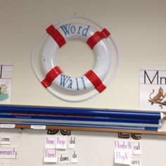 Word Wall life preserver in my nautical themed classroom