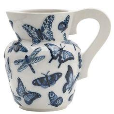 vase with handpainted butterflies : Studio Job for Royal Tichelaar Makkum