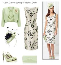 Jacques Vert light green Mother of the Bride dress and matching jacket shoes hat and bag spring summer complete wedding outfit ideas