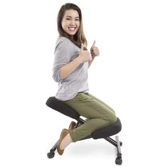 Kneeling Stool, Ergonomic Kneeling Chair, Cheap Office Chairs, Best Office Chair, Good Posture, Improve Posture, Neck And Back Pain, Neck Pain, Traditional Office Chairs
