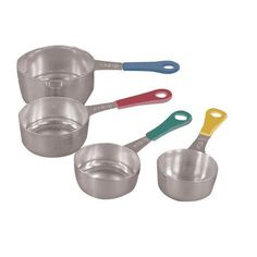 Fox Run Craftsmen 4 Piece Stainless Steel Measuring Cups with Colored Handle Set
