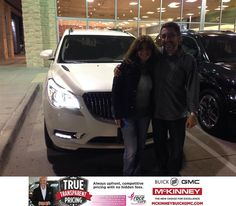 https://flic.kr/p/ANuxeA | Happy Anniversary to Eduardo on your #Buick #Enclave from Wade Skurlock at McKinney Buick GMC! | deliverymaxx.com/DealerReviews.aspx?DealerCode=ZAKC