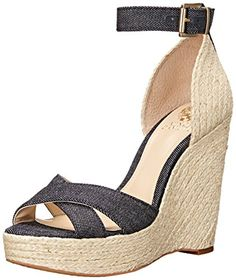 Vince Camuto Womens Maurita Espadrille Wedge Sandal Dark IndigoNatural 7 M US ** Check out this great product.(This is an Amazon affiliate link)