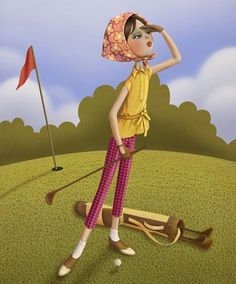 Golf Tips. Golf is definitely an incredible game to learn. Very easy to understand, golf can be enjoyed by everybody irrespective of health and fitness. Illustrations, Illustration Art, Golf Art, Inspiration Art, Golf Tips For Beginners, Golf Quotes, Animation, Golf Humor, Golf Fashion