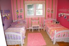 The Kid-Friendly Home: Girls' Shared Bedroom: Flower Theme