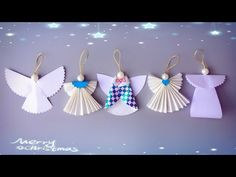 ABC TV | 5 Tips | How To Make Angel Christmas Ornaments From Paper - Craft Tutorial - YouTube Diy Christmas Angel Ornaments, Recycled Christmas Decorations, Diy Xmas, Homemade Ornaments, Christmas Angels, Christmas Crafts, Tree Decorations, Christmas Tree, Paper Crafts Magazine
