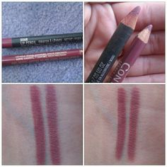 Dupe* Mac Soar Lip Pencil VS L'Oreal lip liner in #657 Rosewood —-Swatches on the bottom L'Oreal on the RIGHT —Mac on the LEFT