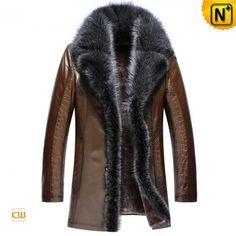 Sheepskin Leather Coat Mens CW852555 www.cwmalls.com