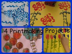 Inspired Montessori and Arts at Dundee Montessori: Children's Printmaking - Celery Fish Scales