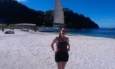 Here's our Travel Specialist Sophie about to board her catamaran cruise to Mustique from the beach at Buccament Bay. We wish we were there!
