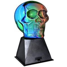 "Creative Motion Plasma Skull 9.4"" H Table Lamp with Novelty Shade"