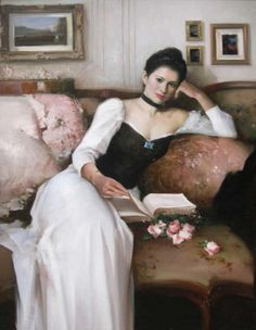 books.quenalbertini: Woman reading by An He