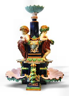 "Minton  majolica ""Monumental Centerpiece"" ~ made for the 1876 Centennial Exhibition in Philadelphia"