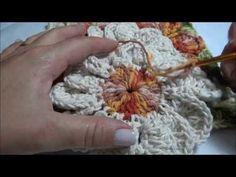 Beautiful Dahlia flower square motif!!!  Mega Dália  Barroco parte 2 Final