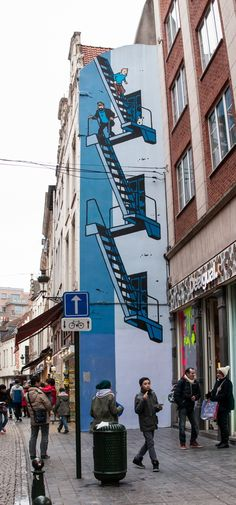 Street Art in Brussels, Belgium