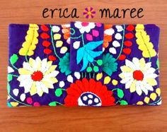 Change Purse Made in Mexico Embroidered Details by EricaMaree