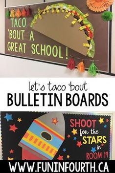 Are you needing some back to school bulletin board inspiration? I have created a step by step guide to creating some of the most beautiful, creative, and fun bulletin boards that will make your students excited for school! Cafeteria Bulletin Boards, Office Bulletin Boards, Elementary Bulletin Boards, Spring Bulletin Boards, Back To School Bulletin Boards, Preschool Bulletin Boards, Creative Bulletin Boards, Inspirational Bulletin Boards, Kindness Bulletin Board