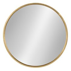 Kate and Laurel Travis Round Gold Mirror 211754 – The Home Depot - Diy mirror Round Wood Mirror, Round Mirrors, Metal Mirror, Beveled Mirror, Home Depot, Mdf Frame, Wall Mounted Mirror, Wall Mirrors, Gold Wall Mirror