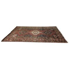 Vintage Himalayan Azeri Wool Area Rug - 6′9″ × 9′2″ ($623) ❤ liked on Polyvore featuring home, rugs, traditional handmade rugs, handmade area rugs, hand made wool rugs, vintage rugs, vintage wool rug and wool rugs
