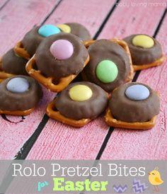 Rolo Pretzel Bites for Easter