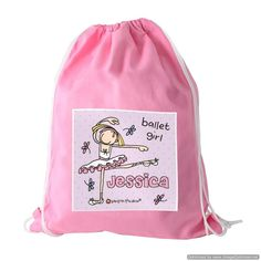 7336bc541981 An absolute must for school is a personalised gym bag. Our fairy design  will…