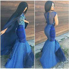 shweshwe dresses gallery 2017 / 2018 - style you 7 South African Traditional Dresses, Traditional Dresses Designs, Traditional Wedding Dresses, Traditional Outfits, Traditional Fabric, African Dresses For Women, African Attire, African Wear, African Fashion Dresses
