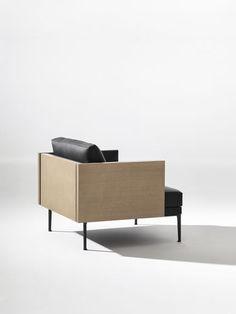 Moderner Sessel / Leder / Textil / von Jean-Marie Massaud STEEVE  Arper